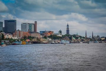 Hamburger Hafenansicht