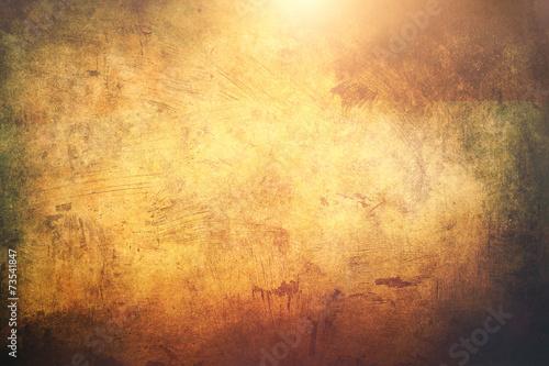 Leinwandbild Motiv golden shinny grunge background or texture