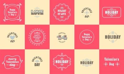 Valentines Day Set  Labels Emblems