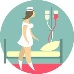 The Nurse Is In A Hospital Ward
