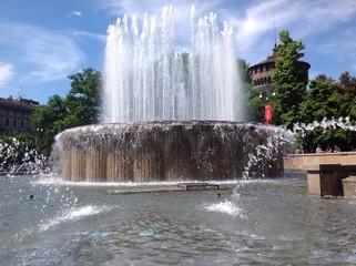 il getto della fontana