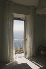 Window facing the sea