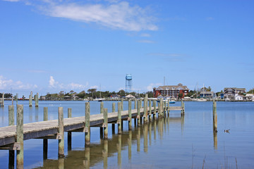 Okracoke harbour