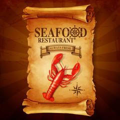 seafood lobster vintage