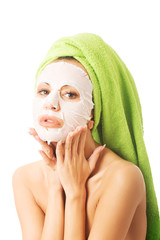 Portrait of a woman with face mask