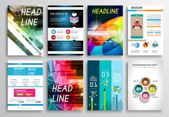 Set of Flyer Designs. Brochure Designs, Infographics