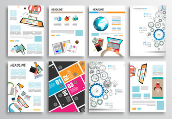 Set of Flyer Design, Webs. Brochure Designs, Infographics