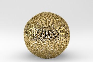 Gold Mesh Ball
