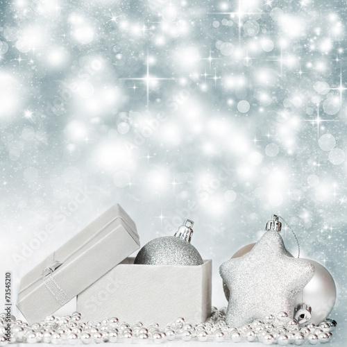 Silver christmas decoration © erika8213