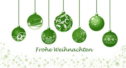 Weihnachtskugeln / grün