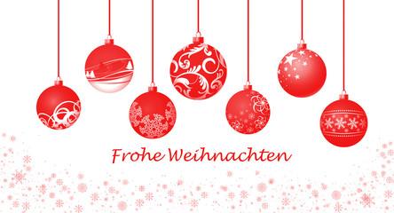 Weihnachtskugeln / rot