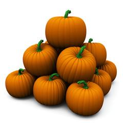 Pumpkin stack, 3d