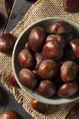 Raw Organic Brown Chestnuts