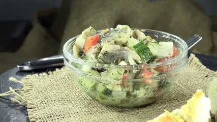 Fresh made Herring Salad (not loopable)
