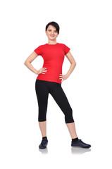 woman in sports wear