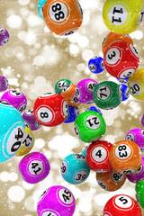 Christmas bingo balls