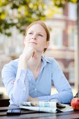 Businesswoman on Lunch Break