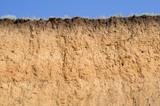 Layered cut of soil