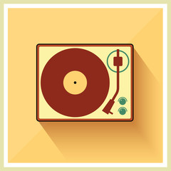 Retro turntable vinyl record player