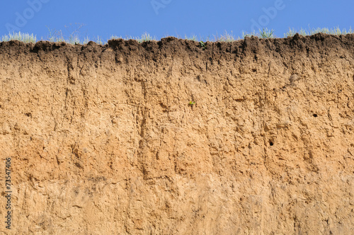 Layered cut of soil - 73547406