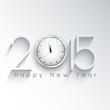 Happy New Year clock background
