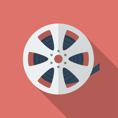 Icon of Film Reel. Flat style