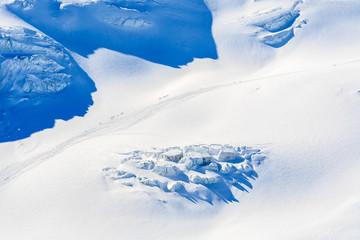 View of Pitztal glacier in winter season, Austrian Alps