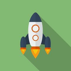 Icon of Rocket. Flat style