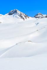 Snow covered mountains in winter ski resort of Pitztal, Austria