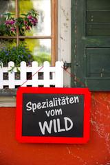 Spezialitäten vom Wild
