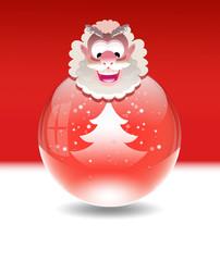 Vector snow globe