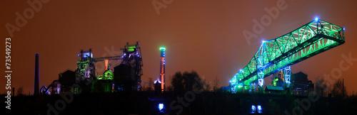 Leinwanddruck Bild Landschaftspark Duisburg Nord