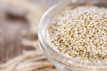 Bowl with uncooked Quinoa Seeds