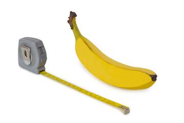 Banana and measuring tape