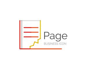 Line minimal design logo page