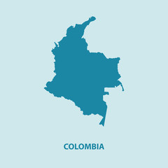 Colombia Map Vector Very Detailed