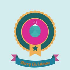 Christmas Illustration over color background
