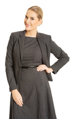 Businesswoman standing in confident pose