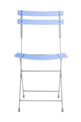 Folding iron chair.