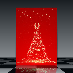 Christmas flyer vector template