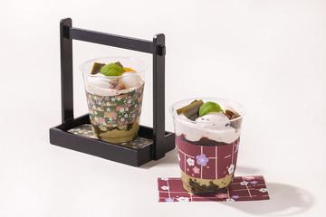 日本のデザート・抹茶パフェ