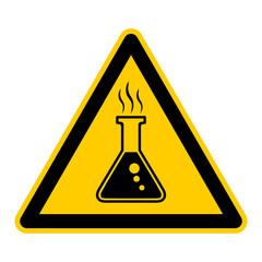 wso92 WarnSchildOrange - Symbol Schild Chemie Chemikalien g2596