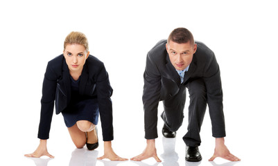Competition between businesspeople