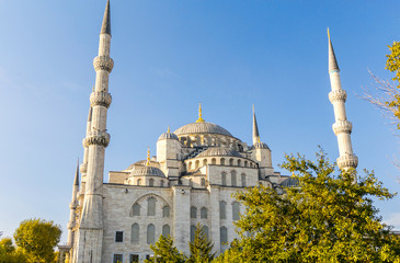 The Blue Mosque on a beautiful sunny day, Istanbul