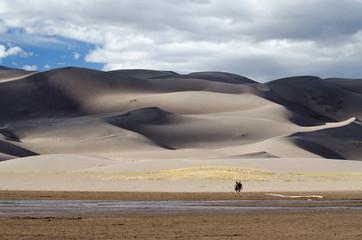 sand dune scape, colorado
