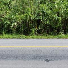 asphalt black road empty
