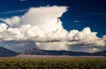 cumulonimbus cloud over the mountain