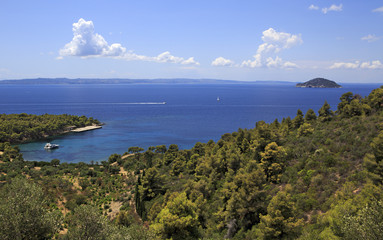 Picturesque bay of the Aegean Sea.