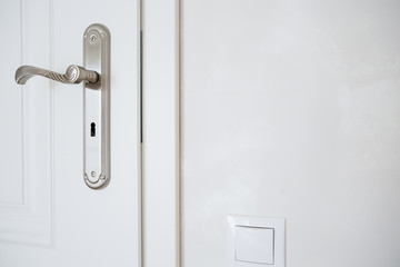 Horizontal view of door-handle