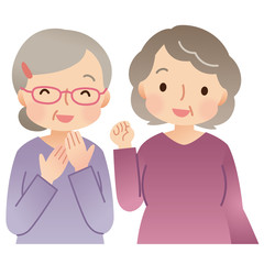 高齢者の女性 シニア